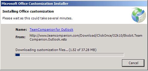 <strong>ClickOnce</strong><br /><em>ClickOnce installation in progress.</em><br /><br />