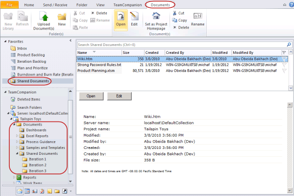 <strong>SharePoint</strong><br /><em>Built-in support for SharePoint document libraries and documents.</em><br /><br />