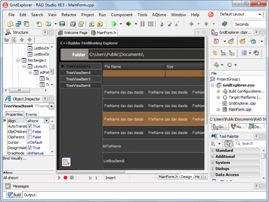 Screenshot of RAD Studio XE7 Professional