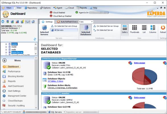 EZManage Database Information