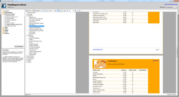 Screenshot of FastReport Mono