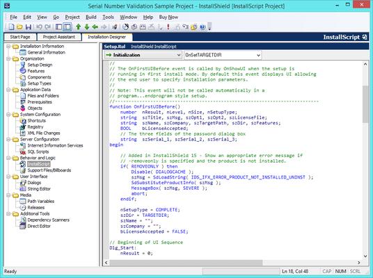 Industry-Standard InstallScript