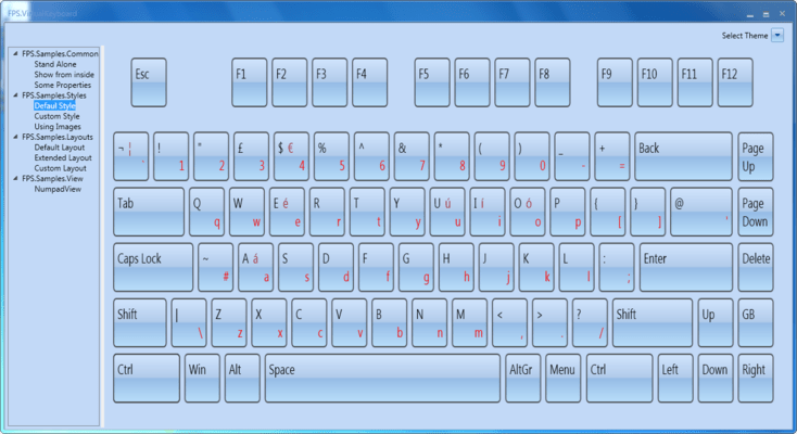 MindFusion Virtual Keyboard for WPF