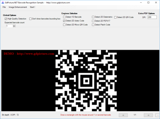 GdPicture NET 2D Barcode Reader and Writer Plugin Screenshots