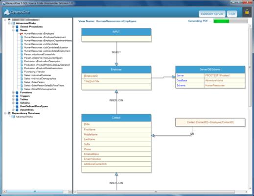 GenesisOne T-SQL Source Code Unscrambler のスクリーンショット