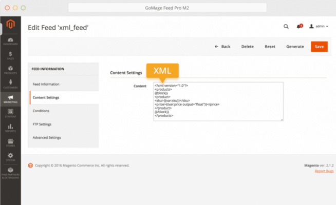 GoMage Feed Pro M2 for Magento 2 - XML Support
