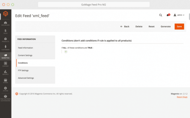 GoMage Feed Pro M2 for Magento 2 - Edit XML Feeds