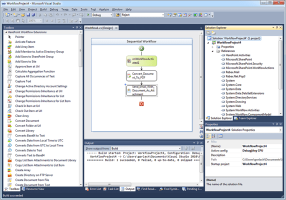 Authoring Workflow in Visual Studio 2010