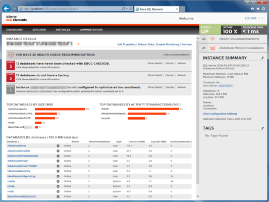 Screenshot of SQL Inventory Manager