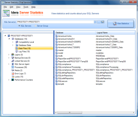 Screenshot of SQL Admin Toolset