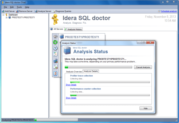 Screenshot of SQL Doctor