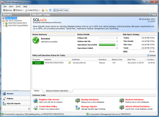 Screenshot of SQL Safe Backup