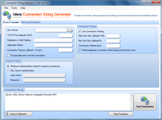 Screenshot of SQL Toolbox