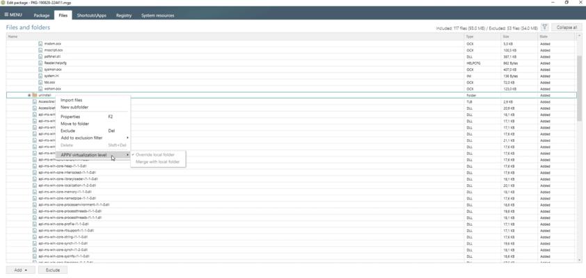 Controlling App-V Filesystem Isolation Levels
