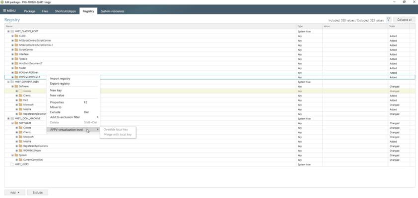 Controlling App-V Registry Isolation Levels