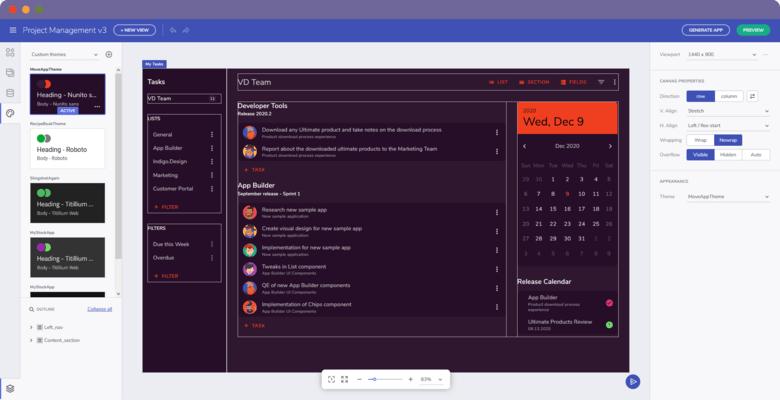 App Builder Custom Themes