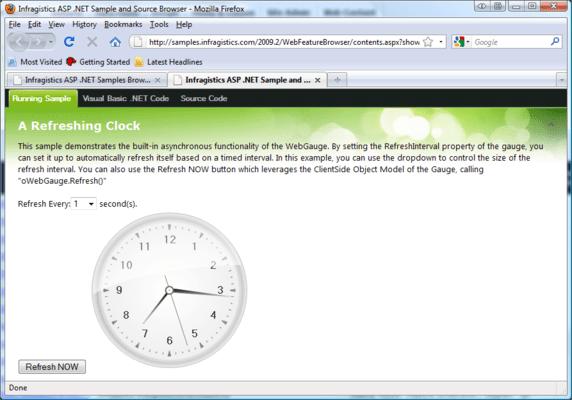 A Refreshing Clock