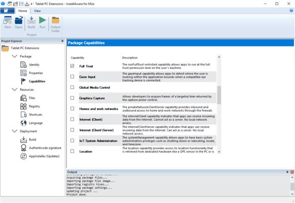 InstallAware MSIX Editor Capabilities