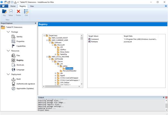 InstallAware MSIX Editor Registry