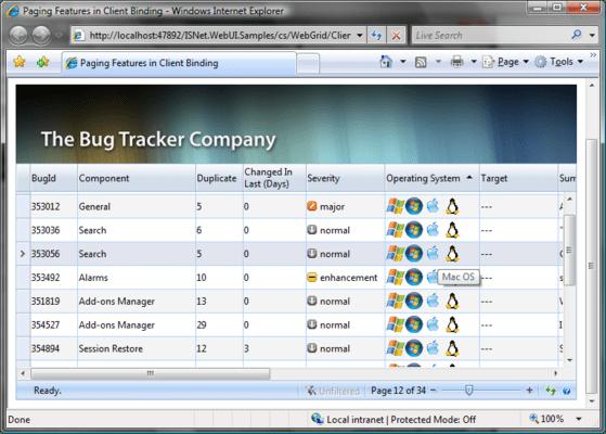 WebGrid Enterprise のスクリーンショット