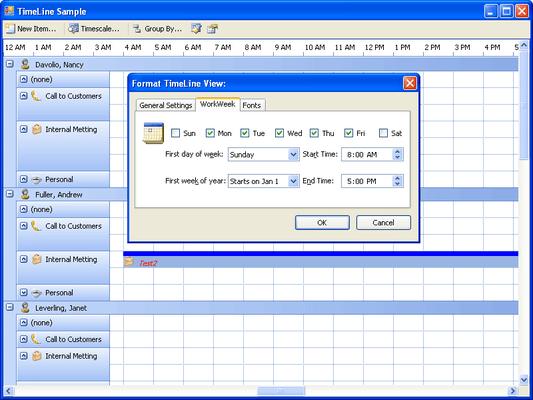 Janus Timeline Control for .NET