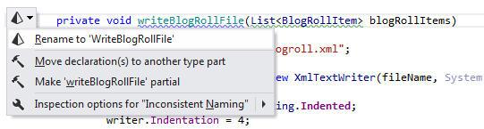 Inconsistent Method Naming