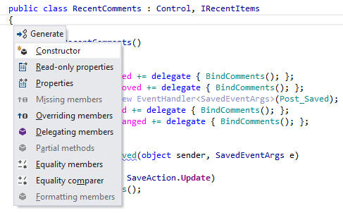 Creating Declarations from Usage