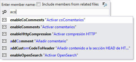 <strong>Navigation to Members in Resource Files</strong><br /><em>ReSharper's Go to File Member is available in .resx files, letting you jump to a specific resource entry in no time.</em><br /><br />