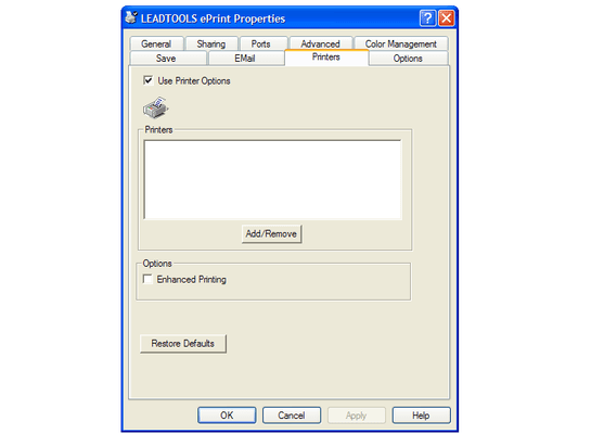 LEADTOOLS ePrint Terminal Server Screenshots
