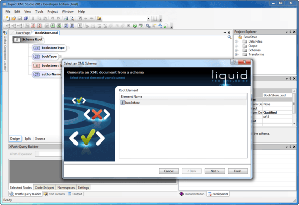 Liquid XML Studio Starter Edition - Installed User Licenses (英語版) のスクリーンショット
