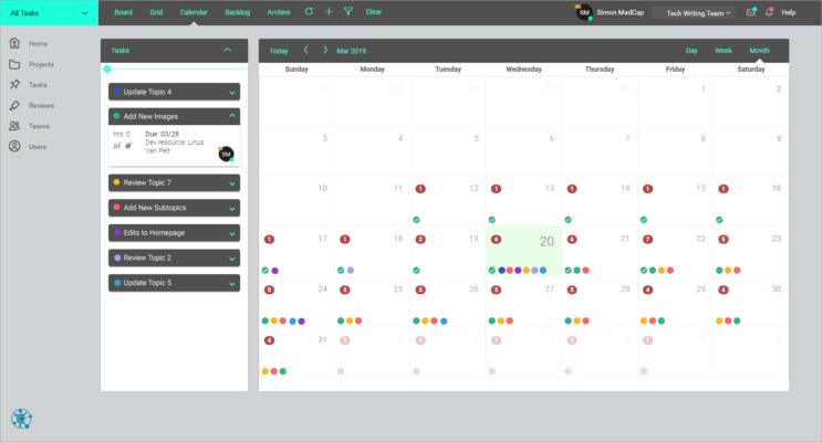 MadCap Central Task Calendar