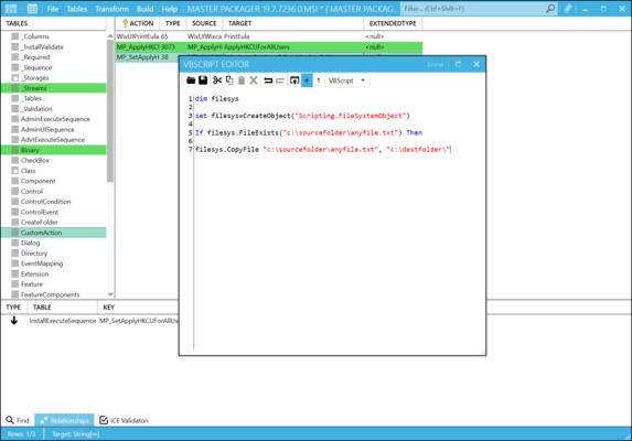Master Packager - VBS / JScript Editor