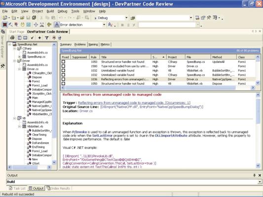 DevPartner Studio Professional Edition, Concurrent Users のスクリーンショット