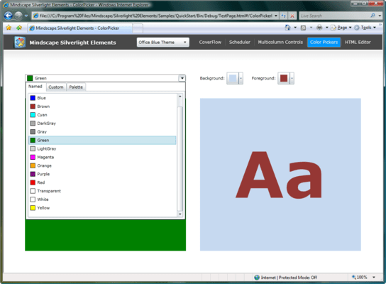 Screenshot of Mindscape Silverlight Elements