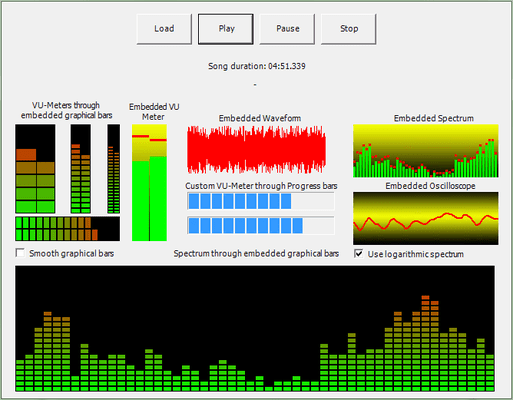More than one visual feedback can be applied to a single song