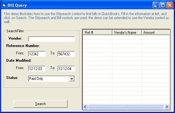 Screenshot of QuickBooks Integrator PHP Edition