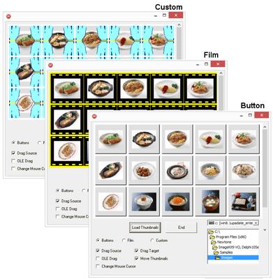 Thumbnail Control Display Functions