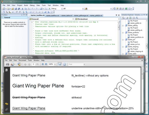 Screenshot of PDFlib TET PDF IFilter