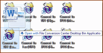 Working with Converter Bins