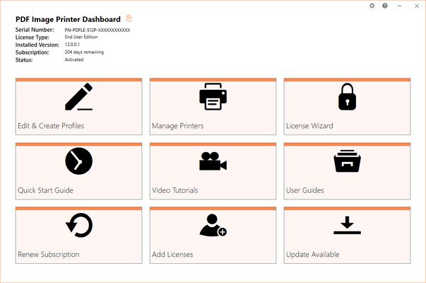 PDF Image Printer Dashboard