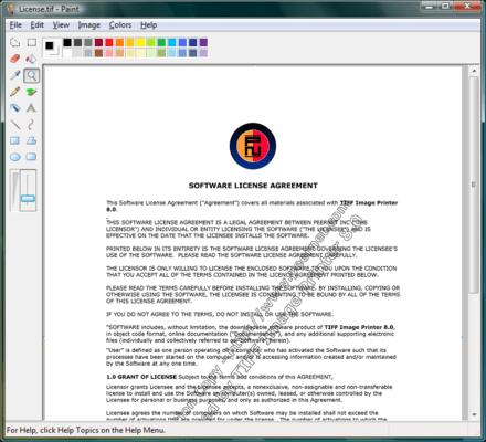 TIFF Image Printer (英語版) のスクリーンショット