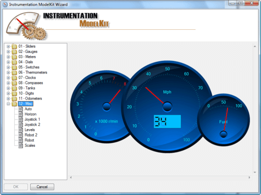 Screenshot of SharpShooter Gauges.Professional