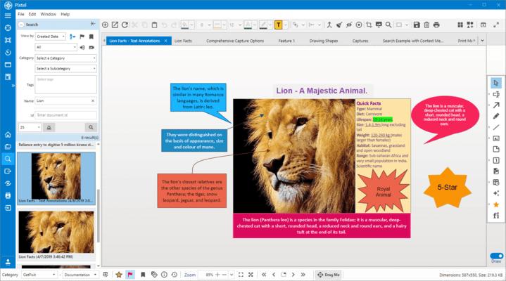 Enrich screenshots with annotation mark-ups