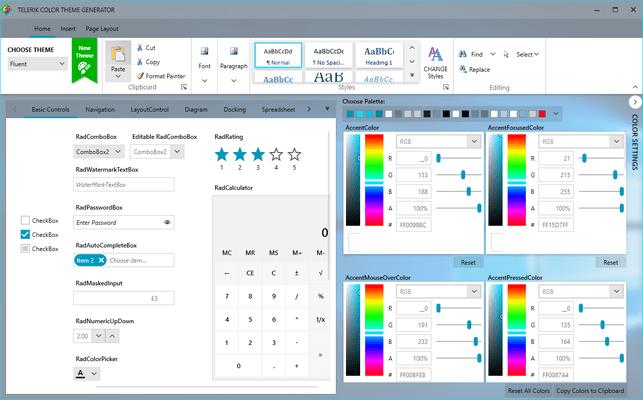 Telerik UI for WPF Screenshots