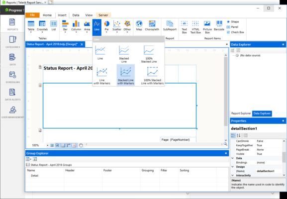 Telerik Report Server - Report Designer