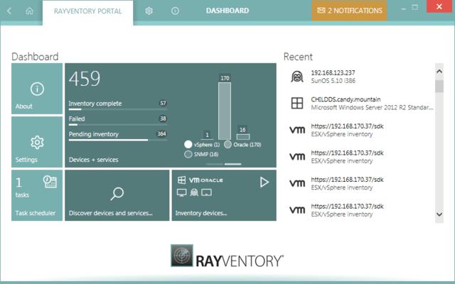 RayVentory Dashboard