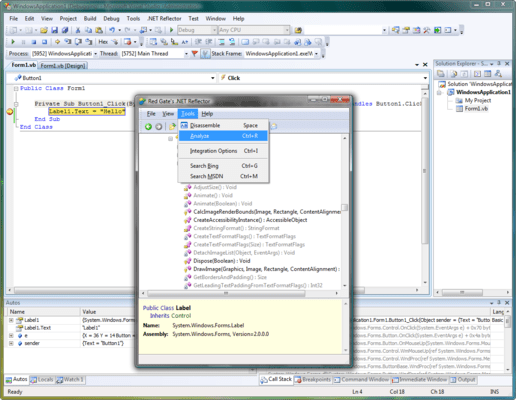 Screenshot of .NET Reflector VSPro