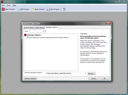 SQL Packager