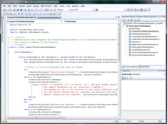 SQL Comparison SDK