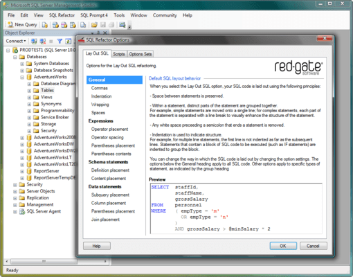 SQL Refactor